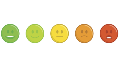 Different colored emoticons symbolize emotional dysregulation