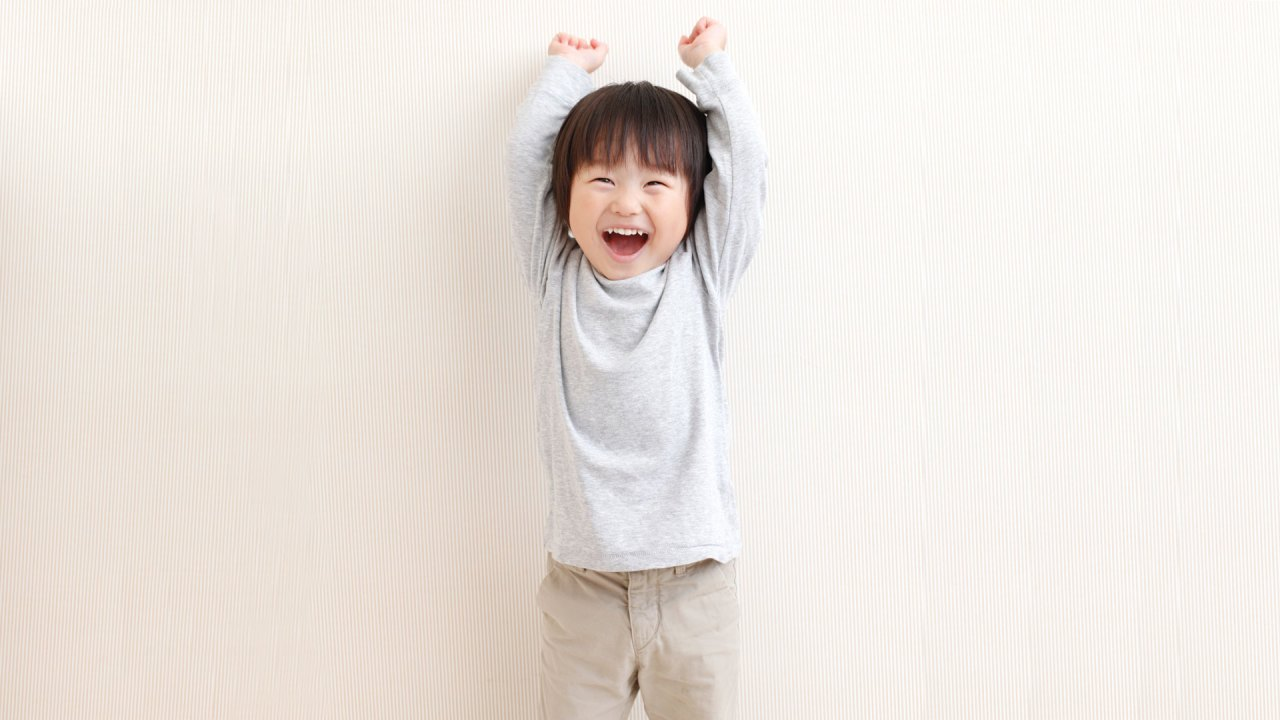 happy, enthusiastic boy