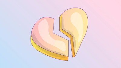 A broken heart illustration shows that ADHD marriages sometimes end in heartbreak.