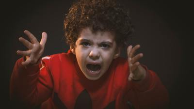 Angry child with oppositional defiant disorder