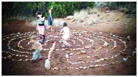 Kids play in a labrynth representing confusion around ADHD