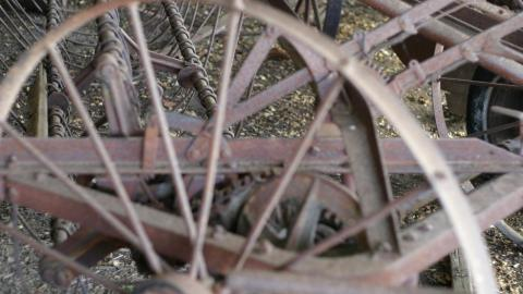 Antique Farm Machinery at a historical site