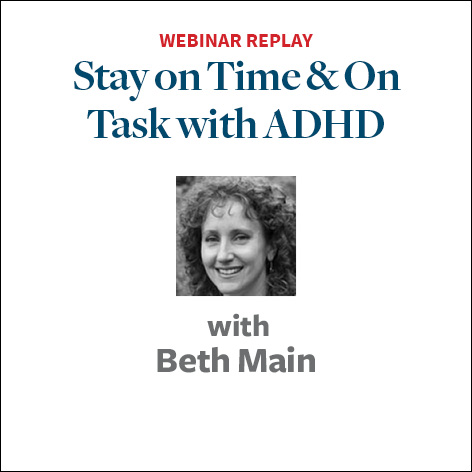 stay on time and on task with adhd