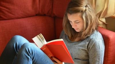 An ADHD female student studies in high school.