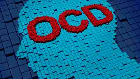 A depiction of the possible symptoms of OCD.