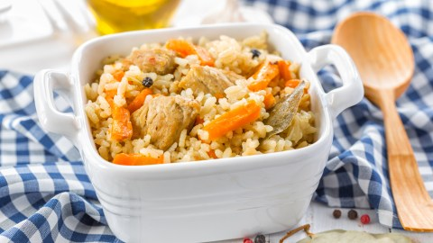 A quick version of chicken and rice that is a healthy meal idea for families.