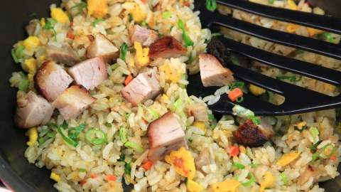 Pork fried rice is a quick, healthy one-skillet meal for families with ADHD.