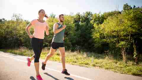 Friends are jogging, knowing that keeping their body healthy keeps their brains healthy — a concept supported by brain imaging.