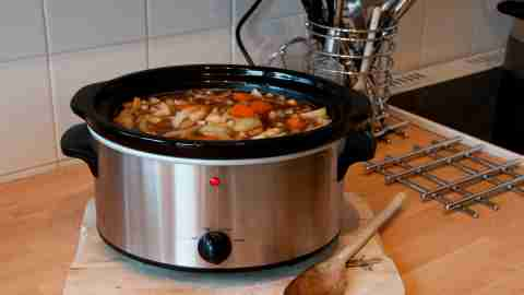 A crockpot or slow cooker, a key tool for easy meal planning