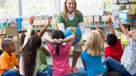 A teacher employs smart strategies to help her children focus in class.