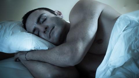 Man with ADHD sleeping