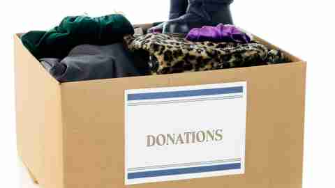 Keeping related items such as donations together in one location can simplify your life by making it easier to find and use when the time comes.