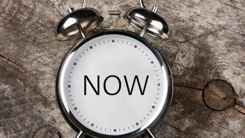 "The dial on a clock says ""now"" — learning prioritization techniques is an important part of CBT."