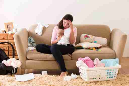 An overwhelmed mom with ADHD tries to do it all while taking good care of her baby.