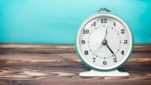 An alarm clock is essential for learning how to be on time