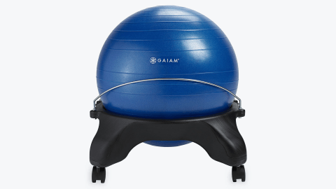 The Gaiam balance ball chair can solve ADHD problems like fidgeting.