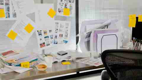 If you are wondering if you have adhd, a cluttered office, like this one, is a possible symptom.