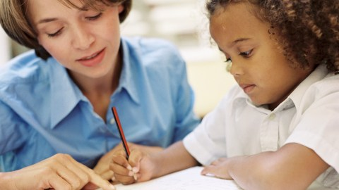A school psychologist observes and evaluates a student for a 504 plan.