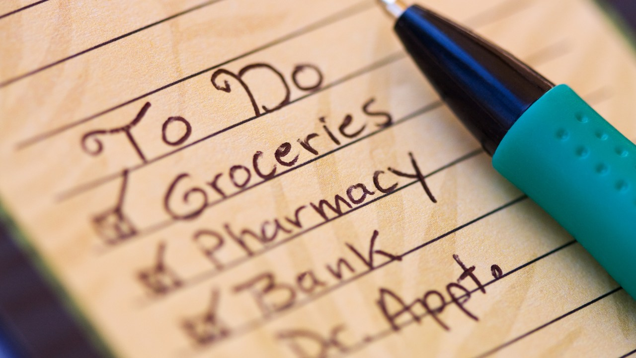 A to do list, one way to get things done with ADHD