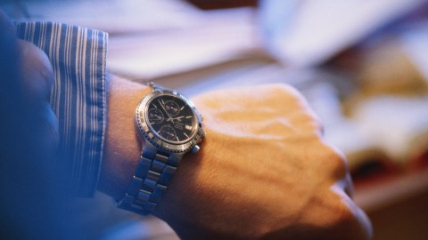 Man with wristwatch. How do you know you have ADHD? Looking for something and you already have it.
