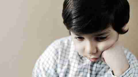 A boy has symptoms of autism spectrum disorder and ADHD.