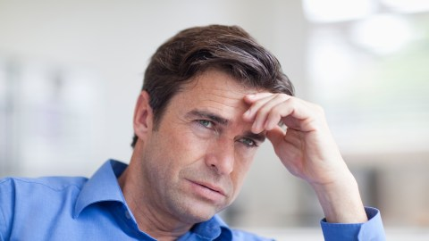 Man with ADHD is stressed