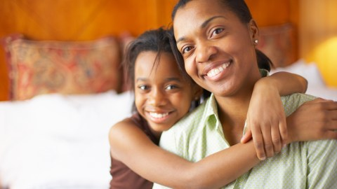 A mother and daughter having a frank discussion about the benefits of adhd, a must on your back-to-school list.