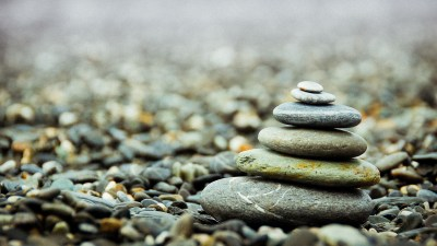 Stacking stones is meditative
