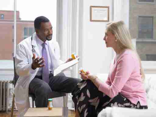 Doctor and patient discuss the overlapping symptoms between ADHD and menopause.