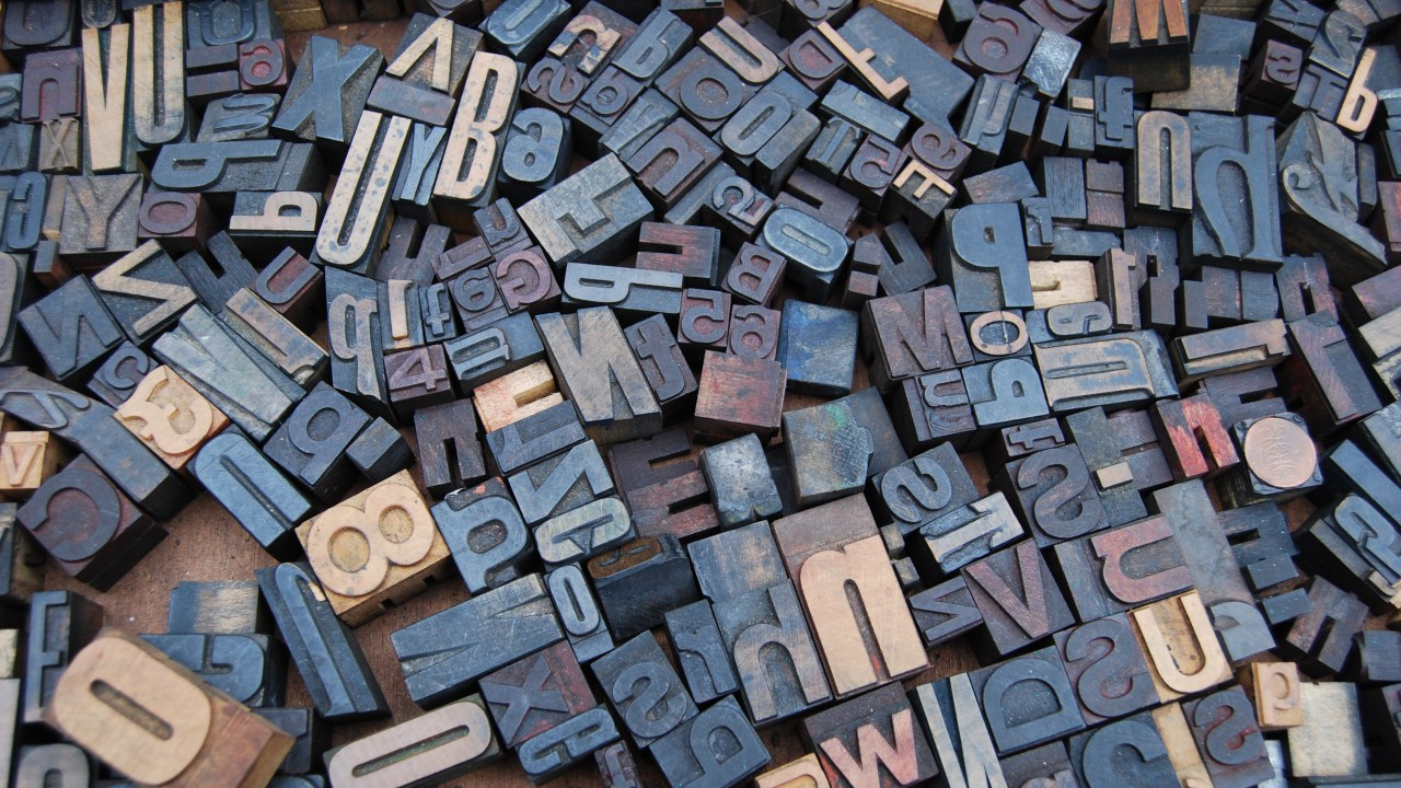 ADHD + Dyslexia makes reading feel like trying to make sense of these jumbled letter print stamps