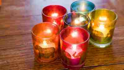 Soft lit candles make for a soothing setting for ADHD kids.