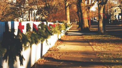 Manage the holiday gifts, travel, decorations (wreaths on gate) so everything goes smoothly