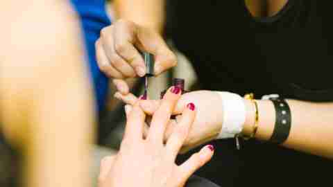ADHD Teen girls reward themselves by polishing each other's nails
