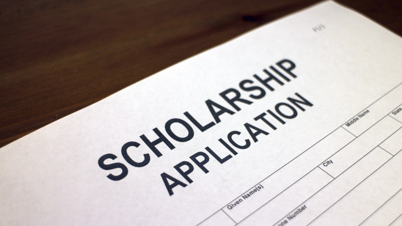 Scholarship application form for ADHD and LD Students on table