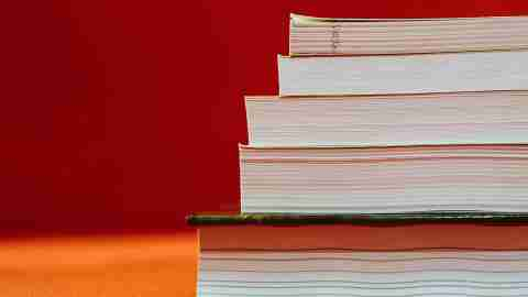 Teacher To-Do List: Stacked Textbooks