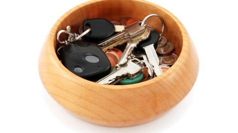 A basket to put keys in by the door can prevent adults with ADHD from losing them.