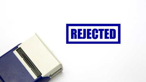 """A stamp that says """"Rejected,"""" that often goes on IEPs with too many problems"""