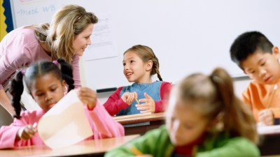 Teacher discussing classroom behavior management with a student