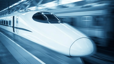 A high speed train: a good metaphor for the mind of a person with ADHD.