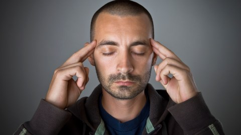 Man with Tourette Syndrome tries to meditate and think about the facts of his condition.