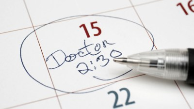 ADHD Doctor scheduled at 2:30 on calendar