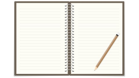 An illustration of a notebook with a pencil, an organization hack to keep track of tasks