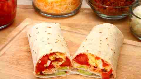 A breakfast burrito, one of ADDitude's quick breakfast recipes
