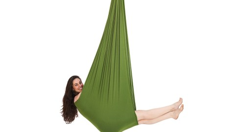 This green swing is great for people with ADHD.