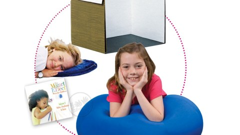 With this set up, your child with ADHD will be so comfortable and focused, homework won't seem like such a big deal.