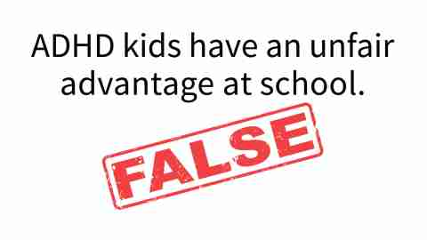 Kids with ADHD do not have an unfair advantage with school accommodations