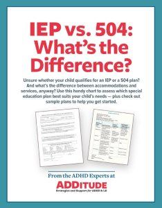 Iep vs what   the difference also school laws learning accommodations rh additudemag