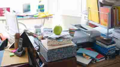Messy Office Space That Needs Cleaning