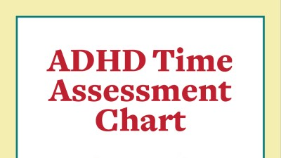 Time assessment chart for adults with ADHD