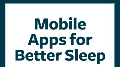 Mobile apps for better sleep